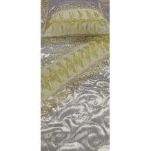 Комплект ритуальный термостежка Атлас жемчужина