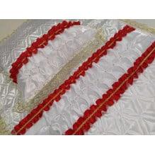 Комплект ритуальный термостежка Атлас красный