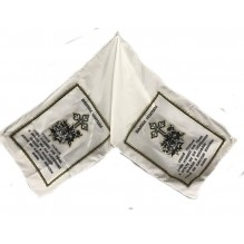 рушник шелковый с глиттером