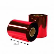 Риббон красный металлик 102мм*200м.