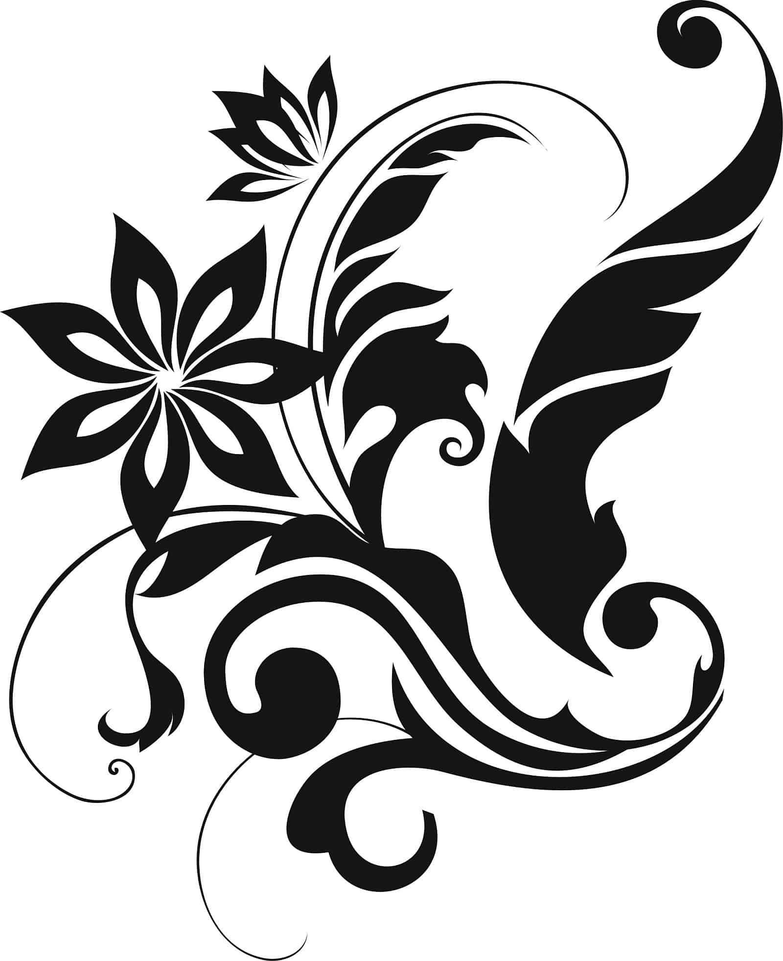 проще красивые векторные черно белые картинки раскаленное масло